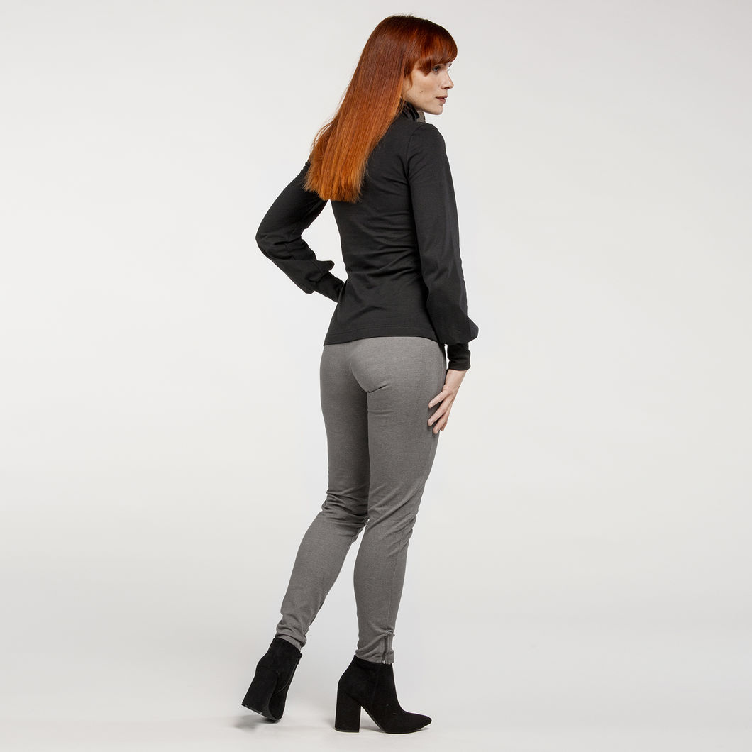 CILLA jeggings, denim-look tumma harmaa