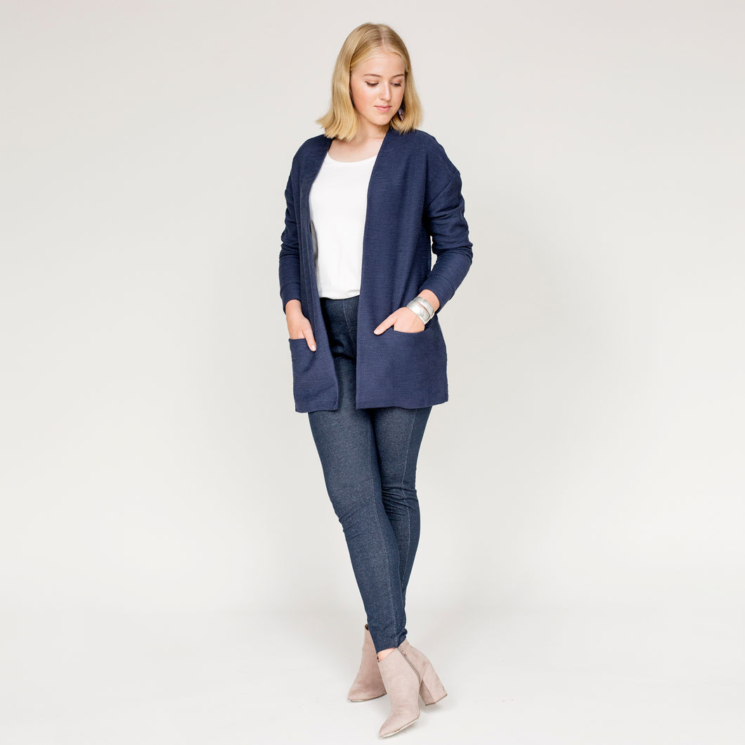 CILLA jeggings, denim-look navy
